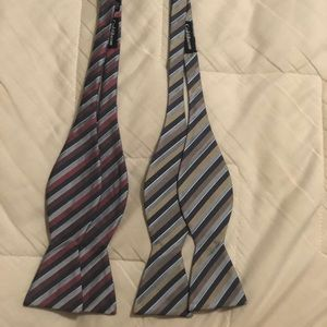 Two Croft and Barrow men's bow ties